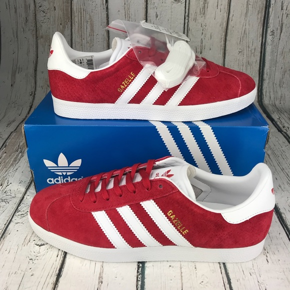 ADIDAS Gazelle Scarlet Red Mens Size 9.5 aee973bee2